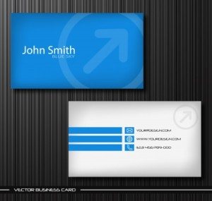 Blue Business Card Design example